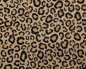 Sarafina Midnight Animal Safari Cheetah Leopard Panther African Sofa Upholstery Fabric Chenille Drapery Curtains