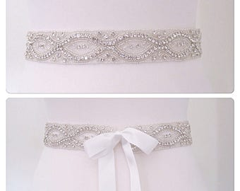 All around wedding dress belt sash, bridal belt sash,wedding belt.