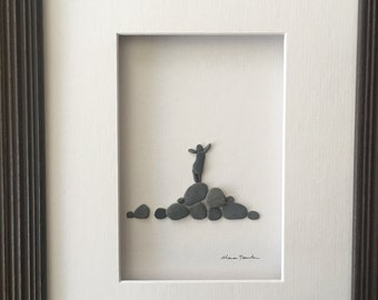 Pebble Art 8 by 10 PebbleArt by Sharon Nowlan choice of framed or unframed