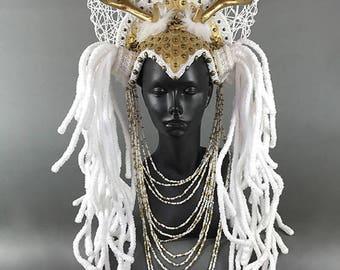 Antler Headdress Headpiece Crown