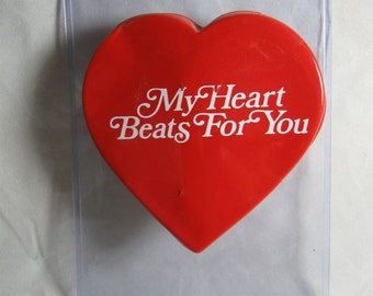 Vintage 1950's Wind-Up Beating Heart My Heart Beats For You Lover