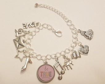 Eliza Schuyler Inspired Charm Bracelet Musical Love Music History Alexander Hamilton Arron Burr