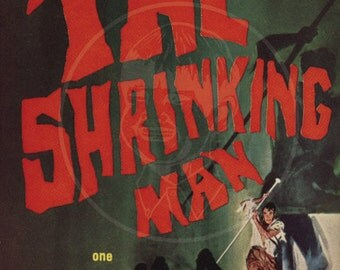 The Shrinking Man - 10x17 Giclée Canvas Print of a Vintage Pulp Paperback Cover
