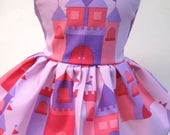 Castles in Pink, Sleeveless Dress for your 18 Inch Doll A