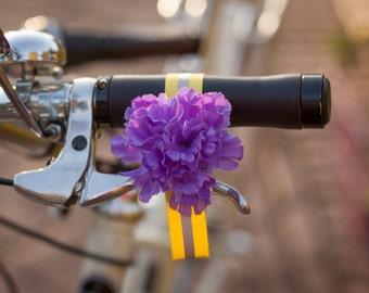 Reflective purple carnation ankle strap Petal Brite