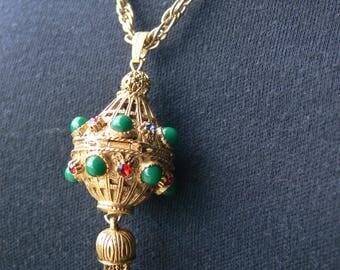 1960's Florenza locket necklace,