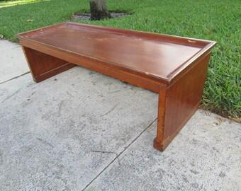 John Stuart Design Wood Asian Inspired John Stuart Metal Tag Coffee Table