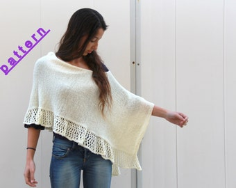 Knit poncho pattern  Women poncho Hand knit poncho Womens Poncho Pattern Knitting pattern Cape pattern Nursing poncho Wrap pattern