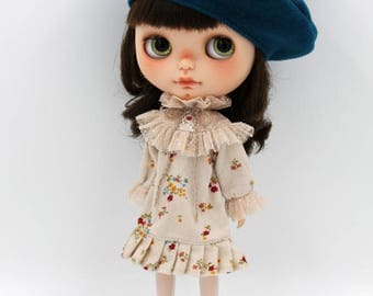 Girlish - Ruffled Collar Dress for Blythe doll - dress / outfit