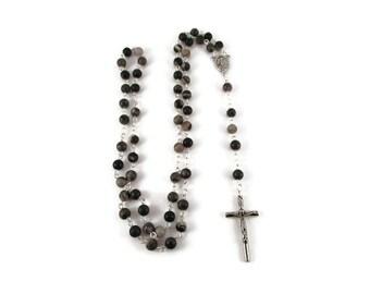 Black Network Stone Rosary