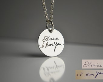 Actual Handwriting Necklace - Custom Handwriting Jewelry - Create Handwriting into a Keepsake - Personalized Memories Necklace | Handwritten