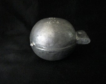 Antique/Vintage Cast Pewter Ice Cream Mold Orange Shape E & Co, NY 807