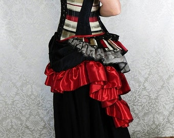 10% OFF Estelle Skirt in Taffeta -- Custom Made in Your Size and Color Choice