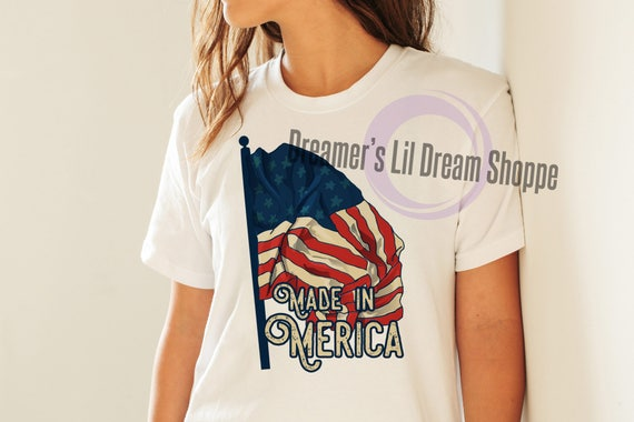 Made in Merica TShirt and Maternity Shirt Iron-on Printable Instant Download