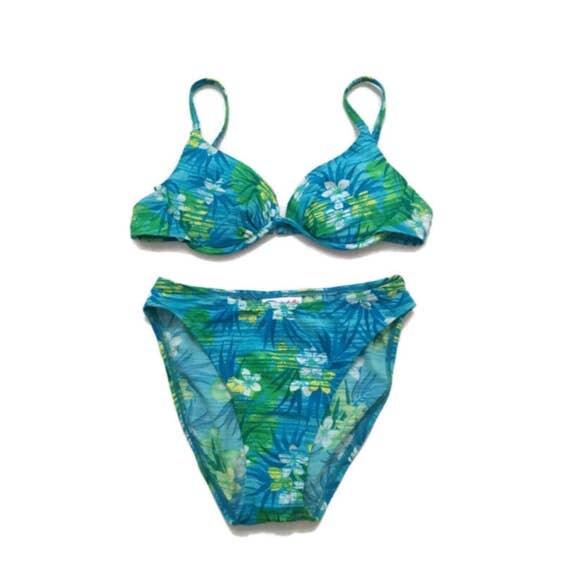 floral high waisted bikini - photo #21
