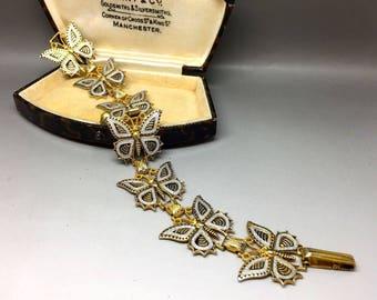 Vintage Stunning 'Damascene' Butterfly Bracelet