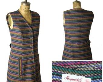1960s Knit Wool Haymaker Dress