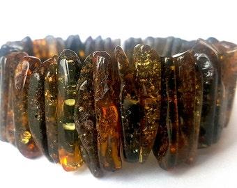 Black Bracelet; Cristmas gift; Xmas gift; Baltic Amber Bracelet, Beads Christmas gift