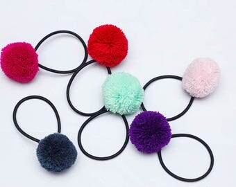 Large Pompoms Hair band/ 5cm pompom hair band/Wholesale