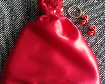 Handmade Formal Barbie Dress, Red