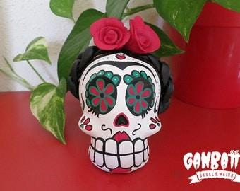 Frida Kahlo Skull Unique Sculpture Frida Kahlo Art Frida Kahlo Day of the Dead Dia de los muertos