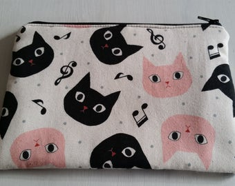 Custom Handmade Music Cats - Zippy Bag