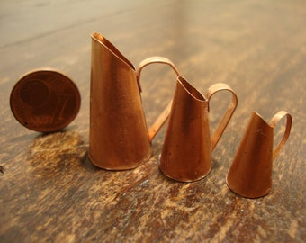 Miniature copper jug  set 3 pieces