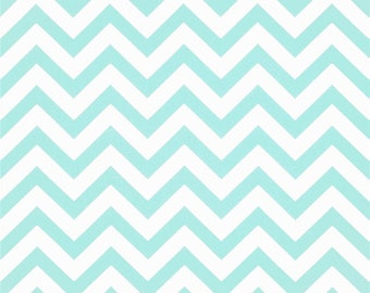 One King/Queen Size Ruffled  Bedskirt   - Zig Zag Chevron  -   Mint Green/Grey/Turquoise/Lilac