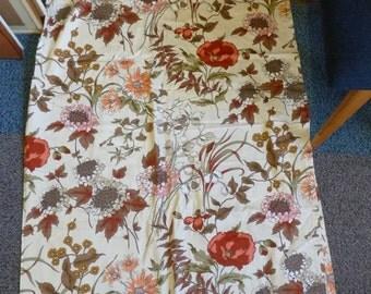 Vintage CURTAINS MOYGASHEL Printemps by ARTILLA  Cotton Fabric Material 1970s