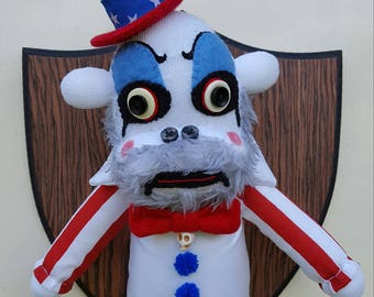 Faux Taxidermy, Captain Spaulding Sock Monkey, horror head