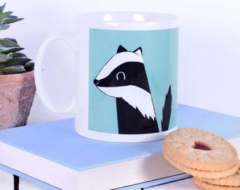 Cute Badger Gift Mug - Cute Badger - Badger Gift - Gift For Badger Lovers - Badger Stocking Fillers - Boxed Mug Gift - Woodland Animal Gift