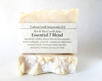 Essential 7 Blend, Aloe Shea Castile Soap