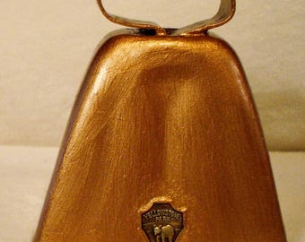 Vintage Solid Copper Souvenir Bell Yellowstone Park