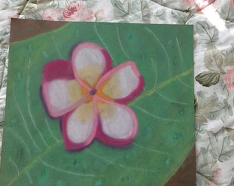 Hawaiian flower pastel