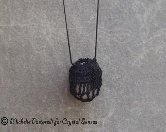 Interchangeable Macrame Tumbled Stone Necklace (INN0001)