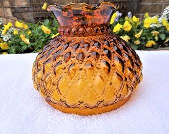 Amber Glass Fenton Lamp Shade