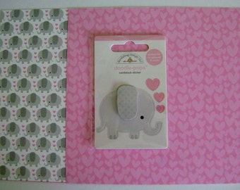 """SALE ** Doodle-Pops """"ellie"""" Cardstock Sticker and 6x6 Papers"""