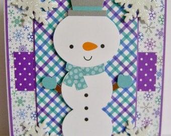 "Snowman ""happy birthday"" note card"