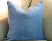Denim Blue Velvet Cushion Pillow Cover