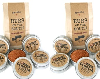 TWO sets of Gusto's RUBS of the SOUTH - Southern Barbecue / Grilling Gift Set