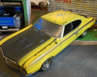 Scale Model,Buick GSX,Yellow Car,Rusted Wreck,Classicwrecks