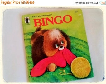 HOLIDAY SALE 20% Off Bingo, 1970s Vintage Children's collectible book...Bingo wants to live in the house.