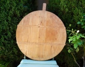 Vintage French Bread Board Round Cutting Board Serving Tray Country French Kitchen Decor