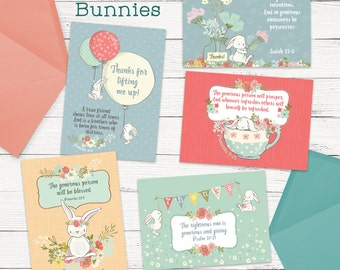 Greeting Cards - Thankful Bunnies Package