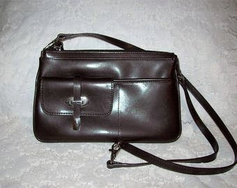 Vintage Ladies Brown Zip Top Shoulder Bag by Nine West Only 9 USD