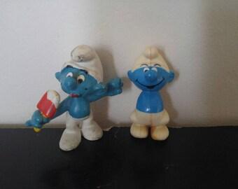 Vintage Smurf Figures - 1979