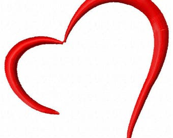 Heart Embroidery Design - Instant Download