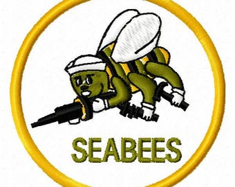 Sea Bees Machine Embroidery Design - Instant Download