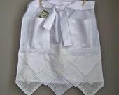 Dollar Dance Wedding Apron Bride's Apron from Vintage Handkerchiefs Wedding Reception Money Dance Something Old Gift