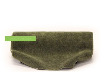"Moss Suede Table Runner - 14"" x 108"" - Earthy Wedding - Olive Green Decorations"